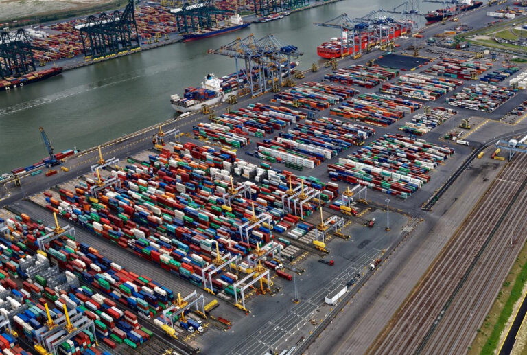 Aerial view of entire Antwerp Gateway yard